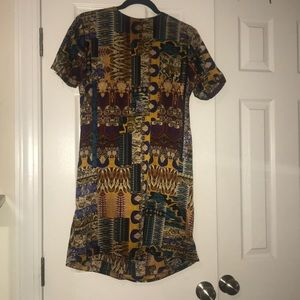 Boohoo printed shift dress
